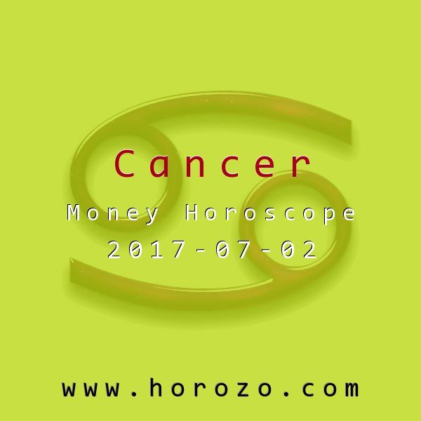Cancer Money horoscope for 2017-07-02: It's the smaller things in life that really make you feel good today. Money doesn't hurt, of course, but little things like getting your message across the first time are what make you smile, with or without the clink of change..cancer