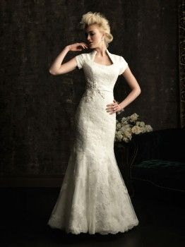Allure Bridals Olivia M480 Modest Lace Wedding Dress SO GORGEOUS!!!: Wedding Dressses, Wedding Ideas, Modest Wedding, Wedding Dresses, Weddings, Lace Wedding, Wedding Gowns, Lace Applies, Allure Bridal