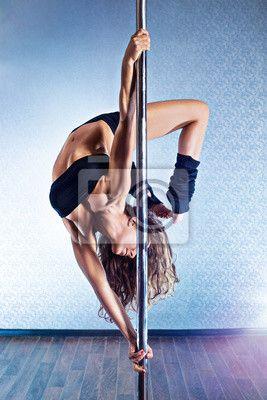 """Canvas eller Poster """"människa, 1, Smal - sexig pole dance kvinna."""" ✓ Enkelt montage ✓ 365 dagars öppet köp ✓ Se andra mönster från kollektionen!"""