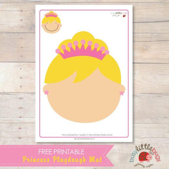 Le visage de #Princesse à personnaliser avec de la pâte à modeler. A #télécharger gratuitement pour pratiquer la motricité fine et travailler sur les émotions.