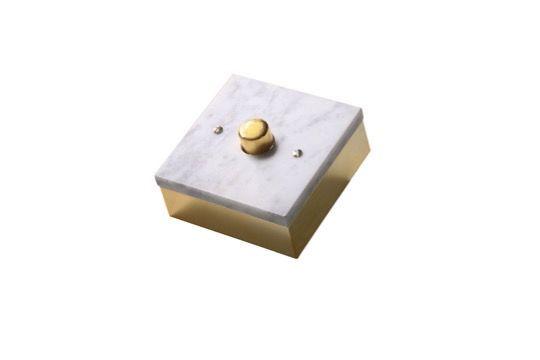 switchbox - Dimmer marmor vit