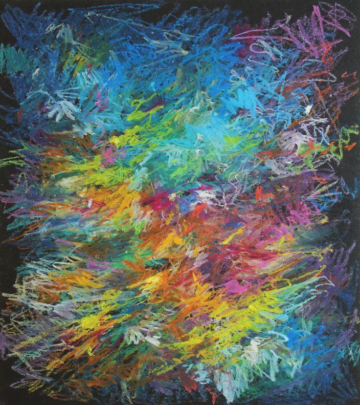 Mario Vespasiani - Senza titolo, pastelli ad olio su carta, 24x27cm 2010