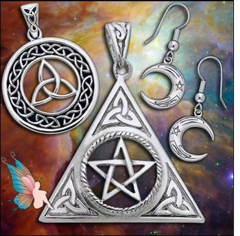 Magickal Jewelry - pagan wiccan witchcraft magick ritual supplies