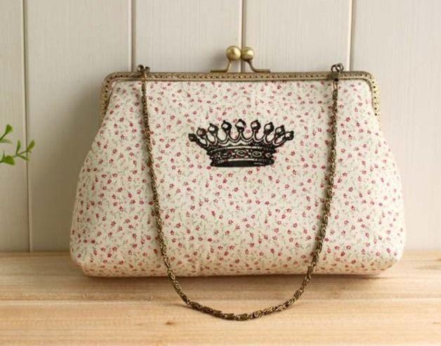 Guide cucito borse - Kit fai da te - stelle carino pacchetto gold bocca - un prodotto unico di One-Stop su DaWanda