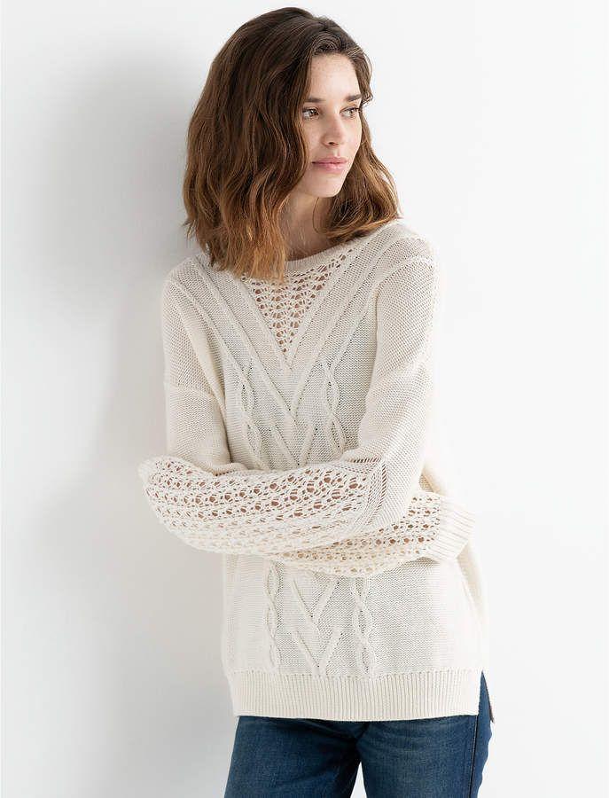 Blouson Stitch Pullover