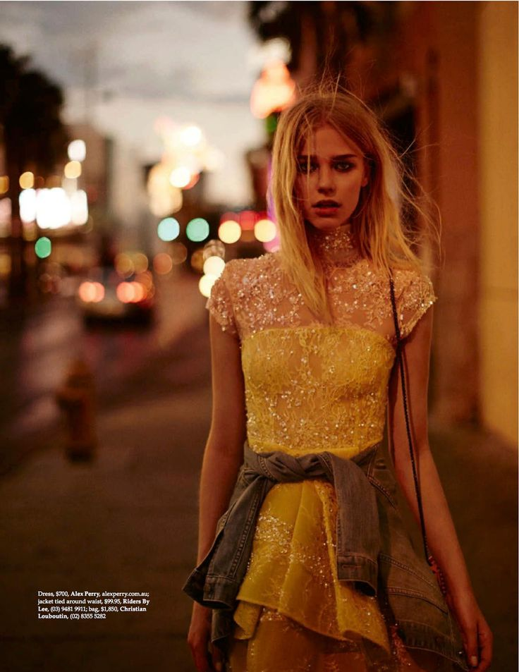 Electric Dreams: Sanna Backstrom By Billy Kidd For Elle Australia December 2014 - Alex Perry