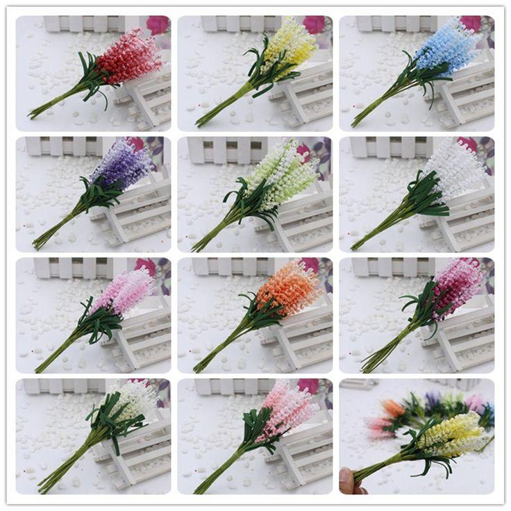 2016 nieuwe 10 stks/partij DIY Kransen kunstmatige bloemen lavendel PE bruid pols bloem bruiloft bloemen woondecoratie Nep bloemen