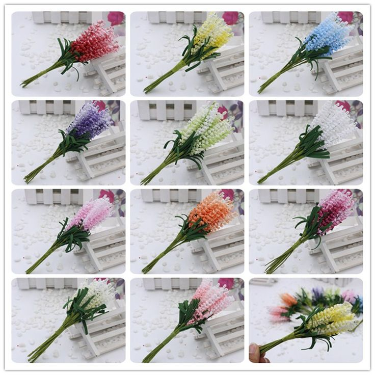 2016 new 10pcs/lot DIY Wreaths artificial flowers lavender PE bride wrist flower wedding flowers home decoration Fake flowers