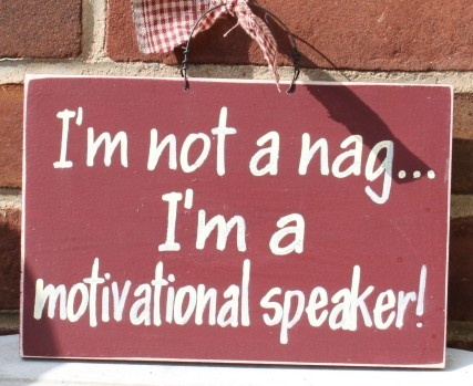 I'm not a nag..I'm a motivational speaker!  (Just ask my kids!!!): Future Life, Folk Art, Chalkboards Quotes Families, Funnies Humor, Hilary Funnies, Daughters, Primitives Signs, Pleasant Pin, Motivation Speakers