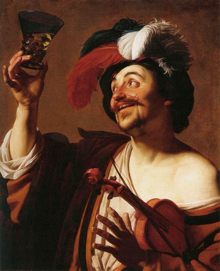 Gerrit van honthorst dutch baroque era painter for Painting while drinking wine