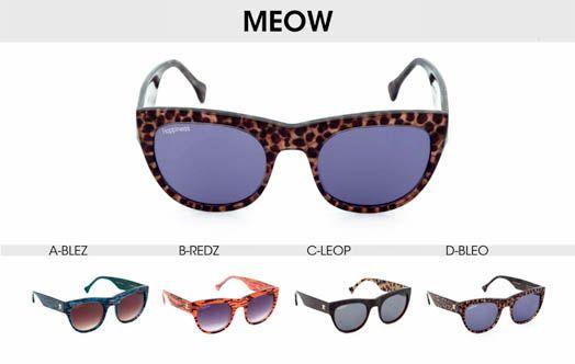 Happiness Shades - Meow Sunglasses #occhiali #occhialidasole #sunglasses #happiness #happinessshades #fashion