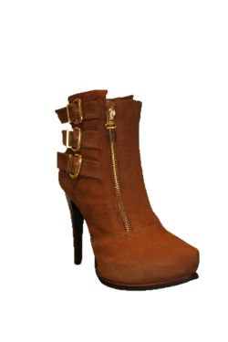 Bottes Femmes Cuir Marron ABY238305 38 Collection GUETTY SUN