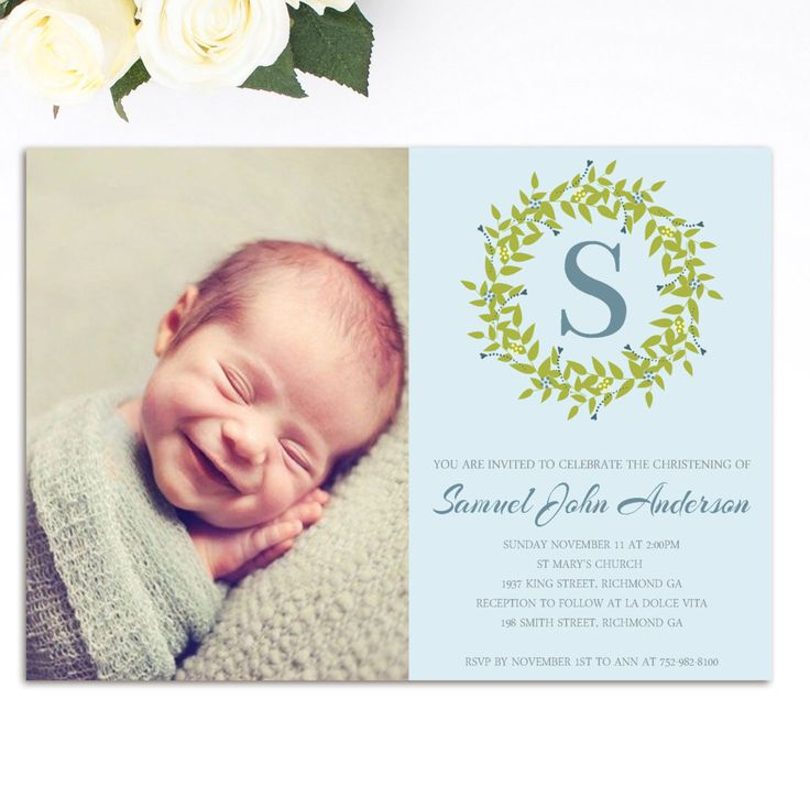 The 25 best Christening invitations boy ideas on Pinterest