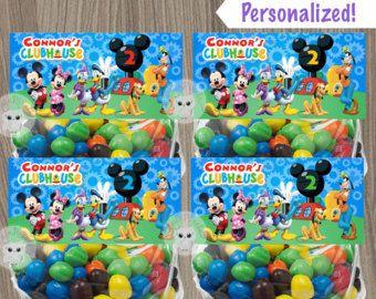 Mickey Mouse bolsa Toppers Mickey Mouse cumpleaños, bolsas de regalo de Mickey Mouse, fiesta de Mickey Mouse, regalos Mickey Mouse, Toppers, bolso del regalo del bolso
