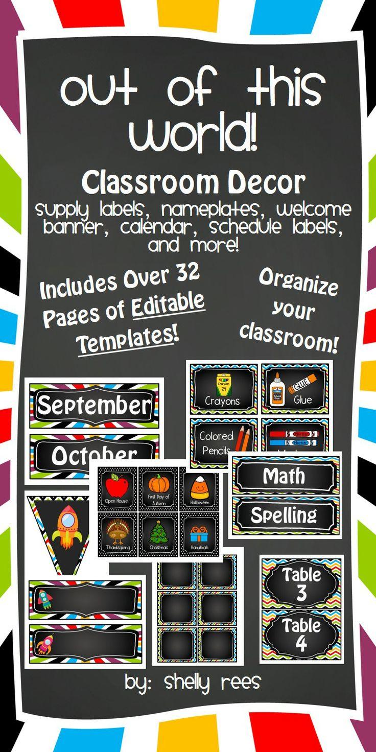 Editable Classroom Decor ~ Best pre k classroom handbook images on pinterest