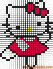 hello kitty perler bead pattern - Google Search