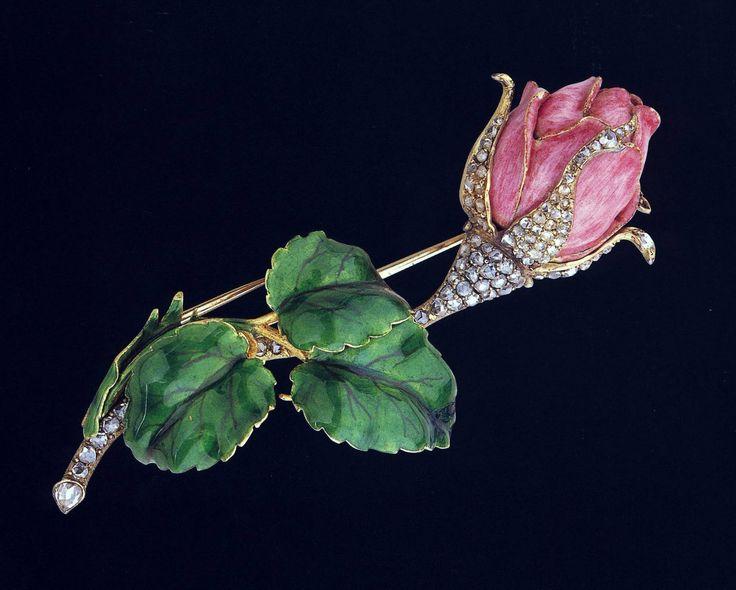 Rosamaria G Frangini | My FLOWER Jewellery | High Jewellery Antique | 1890 Diamond Pavé Rose Brooch by Paulding Farnham
