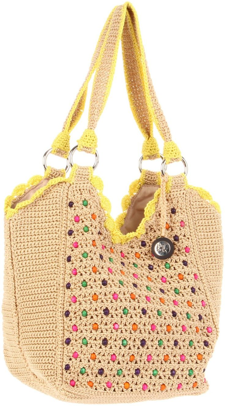 The Sak Stellaris Crochet Beaded Tote: http://cdna.lystit.com ♡