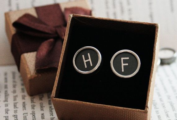 Typewriter key Cufflinks Custom made Monogram Cuff links for a #cufflinks