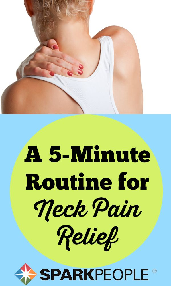 9 Great Exercises for Neck Pain. These 9 exercises can relieve your neck pain to help you get on with your workout routine. | via @SparkPeople