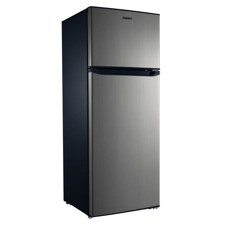 Galanz 76 cu ft top freezer refrigerator with dual door
