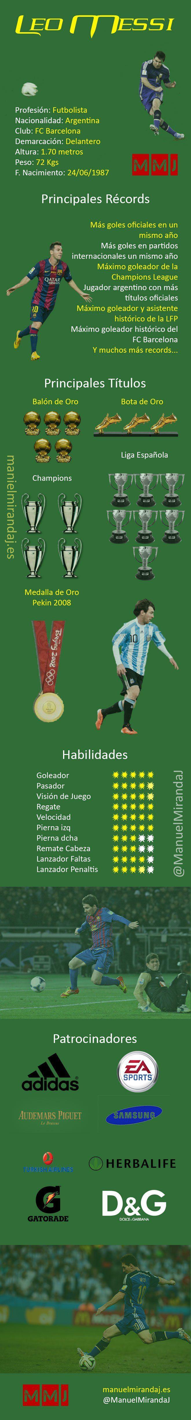 #curriculum #infografico leo messi ;-) #LeoMesi #Futbol #Futbolista #Barça #Deporte #CV #Currículo #RRHH