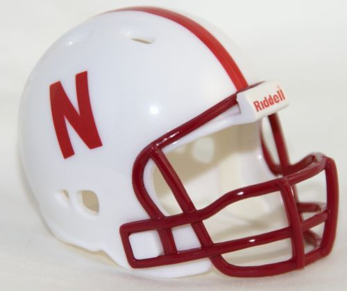NEBRASKA CORNHUSKERS NCAA Riddell Revolution POCKET PRO Mini Football Helmet