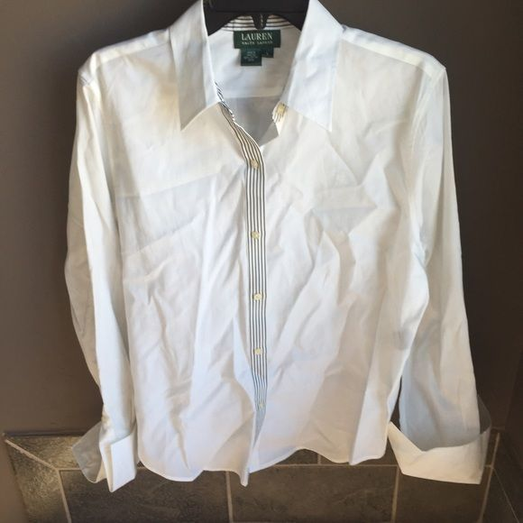 Ralph Lauran Button Down button down shirt from Ralph Lauren   needs ironing   size large  - 🎀10% off with a bundle🎀 📬Fast shipping📬 🚭Non-Smoking🚭 ⚠️No trades⚠️ 👗Open to fair offers👗 ✨Happy poshing!!✨ Ralph Lauren Tops Button Down Shirts