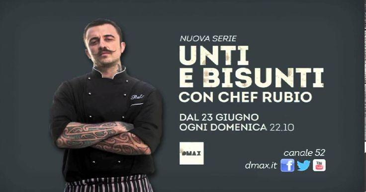 """1 Di questo programma mi piace molto vedere Chef Rubio che gira il Bel Paese per cercare i piatti della tradizione più """"unti e bisunti"""", per poi sfidare un cuoco del cibo da strada tipico del luogo."""