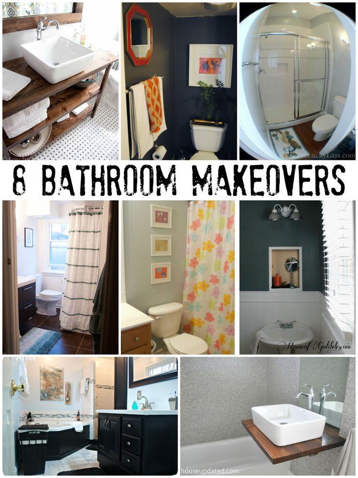 8 Great Bathroom Makeovers via Remodelaholic.com