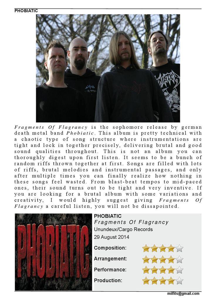 "Phobiatic  ""Fragments Of Flagrancy"" Review (Milfits 'zine, issue#3)"