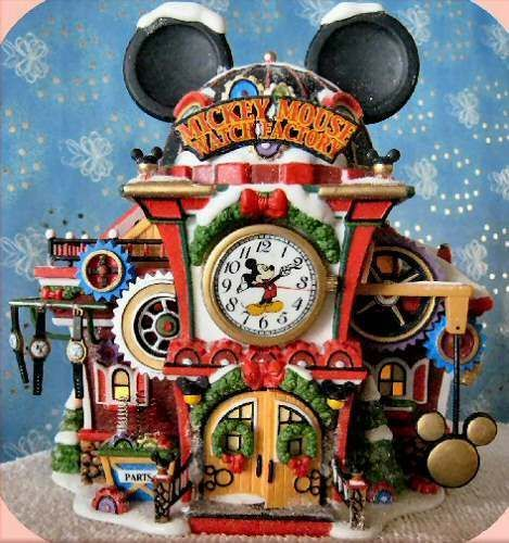 Mickey Mouse Watch Factory NEW Department Dept. 56 North Pole Village NP