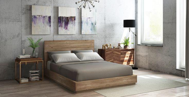 Buy Bruin Wooden Queen Size Bed Frame Online in Australia | BROSA