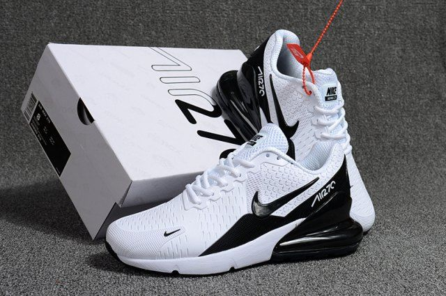 new style 637b4 5bbd5 Nike Air Max Flair 270 KPU White Black Men s Running Shoes
