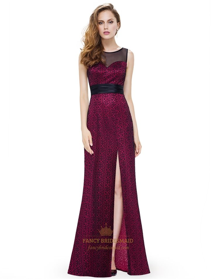 FancyBridesmaid.com Offers High Quality Sweetheart Lace Embellished Side Split…