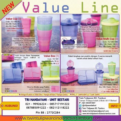 """New """"Value Line""""   Value Box, Value Set, Value Cup, Value Multi Cup"""