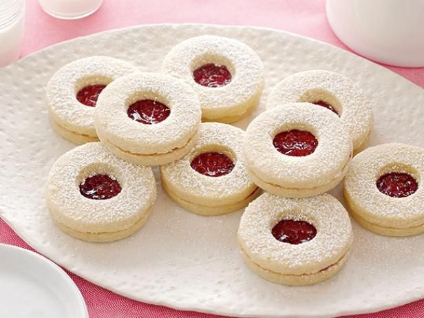 Get Festive Jam Cookie Sandwiches Recipe from Cooking Channel