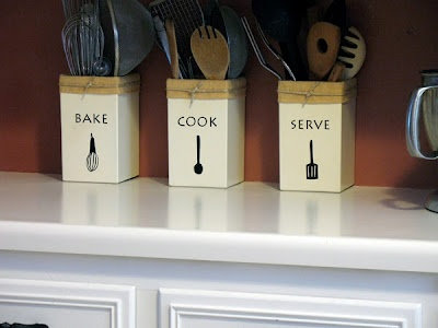 Make Your Own Kitchen Utensil Holders | Crafts by Amanda