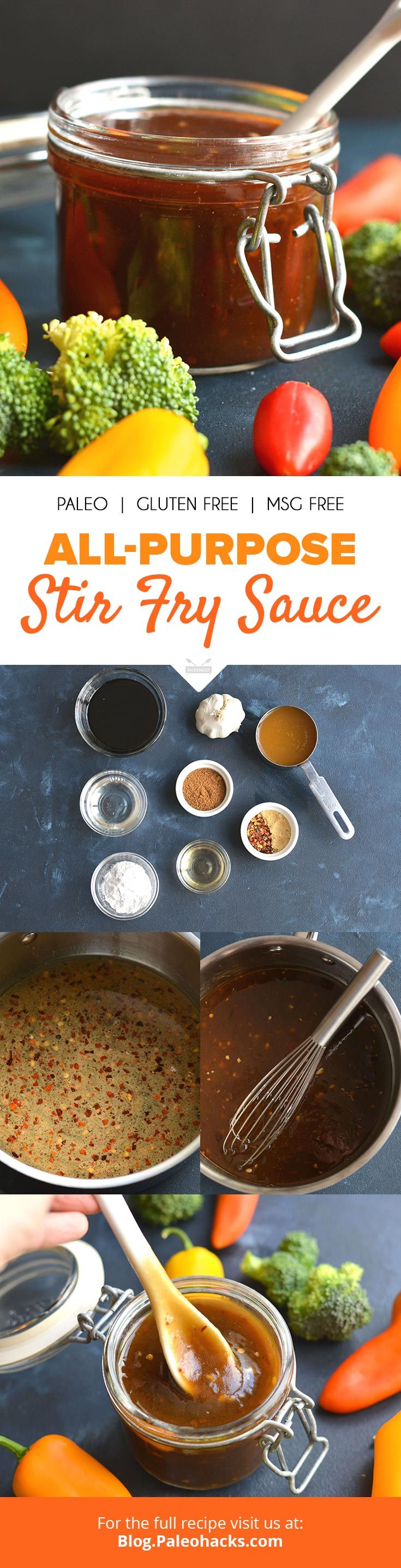 Smother this stir fry sauce all over your favorite veggies, chicken, beef, fish, or pork! Get the recipe here: http://paleo.co/stirfrysaucercp