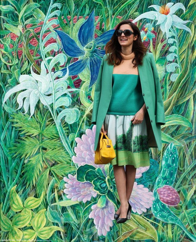 Image Via: Miss Moss  #Spring #SarahBall: Mashup Post, Environment, Fashion Art Mashup, Moss Today, Street Styles, Style Blogs, Blogs Paired, Painting, Fantastic Fashion Art