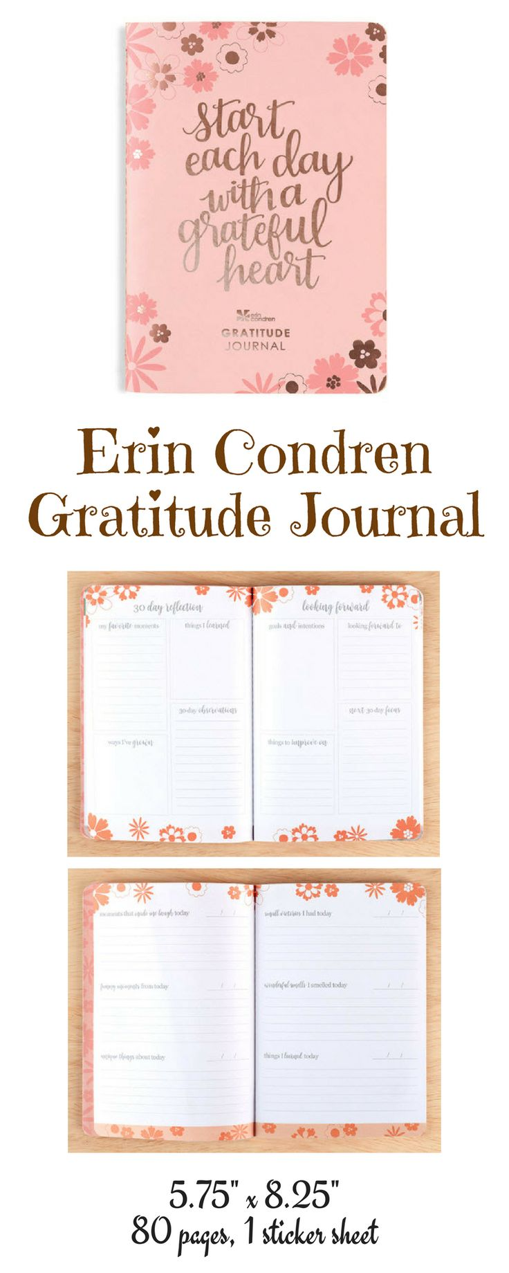 Start your new year off right by keeping a gratitude journal! Take a look! #ad #erincondren #gratitude #journal #newyearresolution
