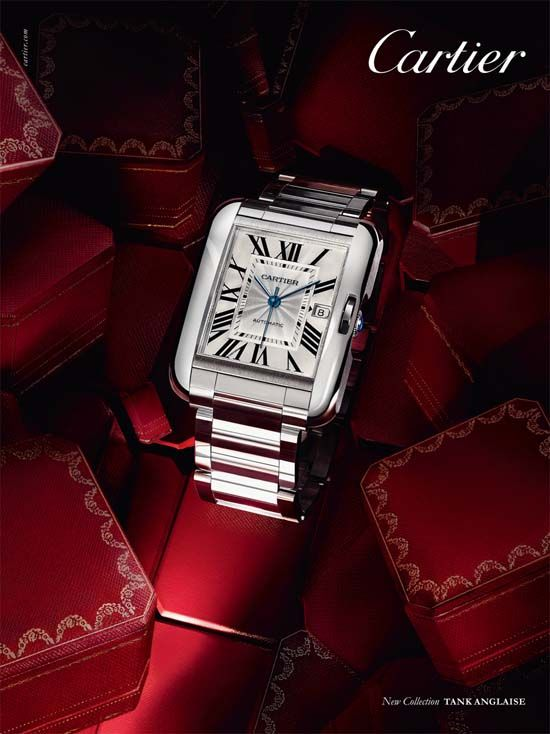 Cartier Tank Anglaise.  Developed in 1917 by Louis Cartier himself, the Cartier Tank was the elegant solution to the problem of how to make a timepiece work with a wristband. Although not the first wristwatch design, the Cartier Tank was the first watch concept that brought a sense of style and finesse back into the complex art of wristwatch designs.
