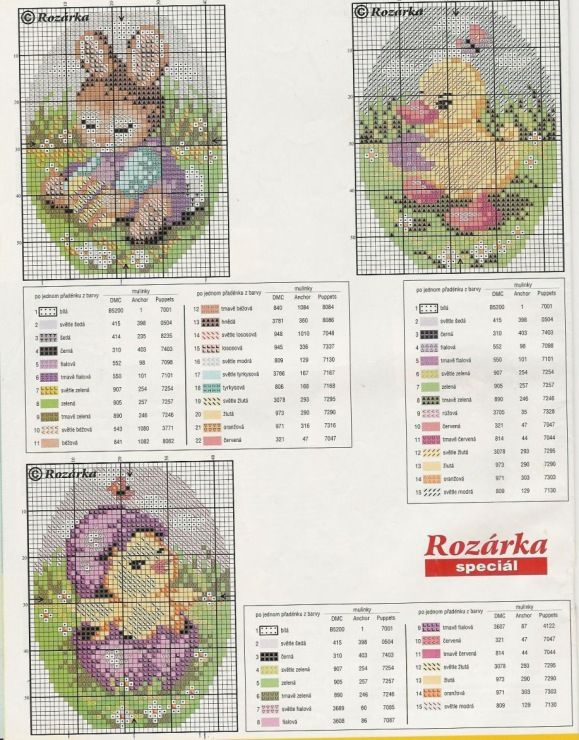 Easter Chicks & Rabbit Chart