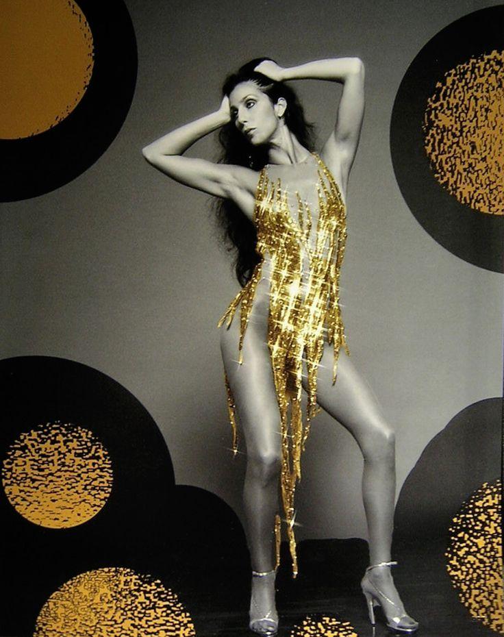 """""""CHER"""" in GOLD + Bob Mackie Photo"""