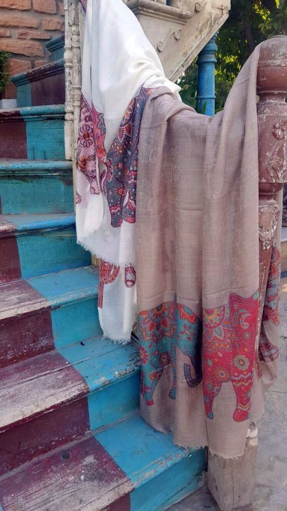 Buy silk, chiffon, cashmere or wool shawls for both women and men exclusively from Le Patio. #scarves #shawls #india #white #brown #women #fashion #silk #cashmere