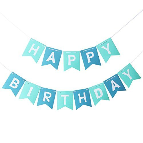 Pin By Rania Al R On ثيمات اعياد ميلاد Happy Birthday Banners Blue Party Decorations Happy Birthday Parties