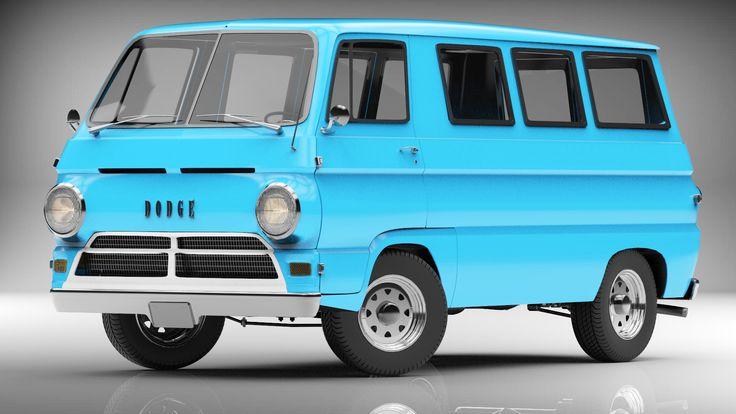 dodge van a100 1960 3d model