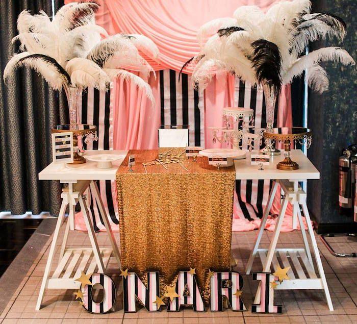 Sweet Table from a Glam Movie Star 10th Birthday Party via Kara's Party Ideas KarasPartyIdeas.com (25)