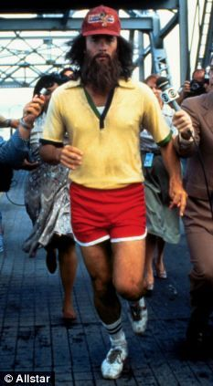 Fellow running enthusiast: Tom Hanks as the indefatigable Forrest Gump in the 1994 film of the same name