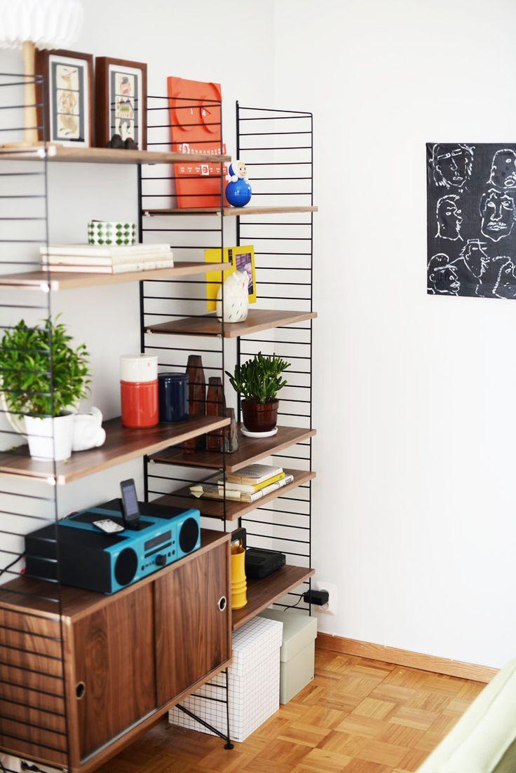String shelves at Süsk & Banoo's